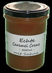 Echte Caramel Creme mit Sahne